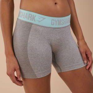 Gymshark Flex Shorts - LIGHT GREY PALE TURQUOISE M
